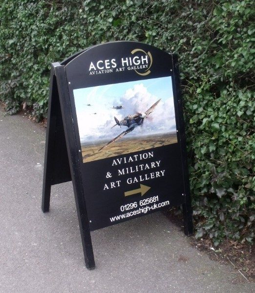 A-Board Pavement Sign - Pavement chalk board with vinyl graphics