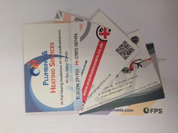 Business cards impact sign solutions business cards with satin laminate reheart Image collections