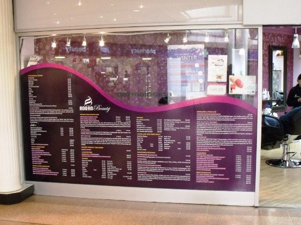 Internal Full Colour - Formative digitally printed window graphics