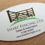 Printed anodised aluminium plaque