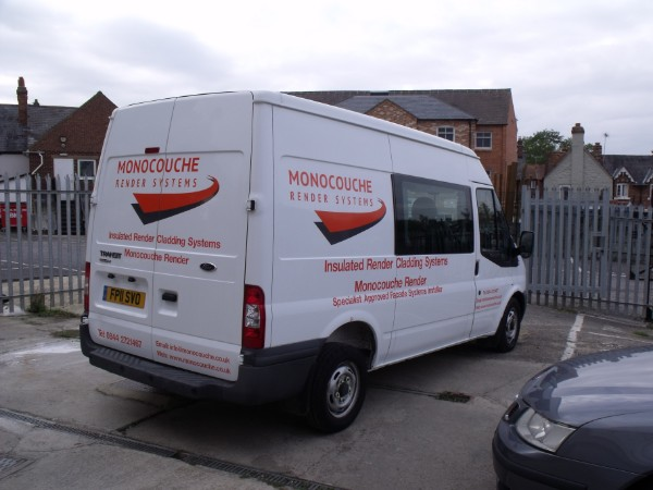 92ffc6aa23 Van Graphics – Orange spot colour vinyl fitted on to grey shadows ...