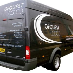 Van Graphics - with logo one spot colour