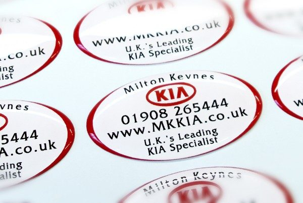 Vinyl Stickers - Oval self adhesive domed labels